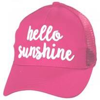 High Ponytail Hello Sunshine Mesh Adjustable Baseball Cap