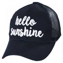 High Ponytail Hello Sunshine Mesh Adjustable Baseball Cap