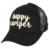 High Ponytail Happy Camper Mesh Adjustable Baseball Cap