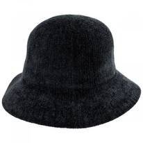 Large Brim Chenille Cloche Hat
