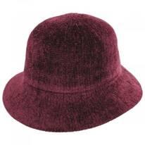 Large Brim Chenille Cloche Hat