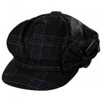 Plaid Side Bow Baker Boy Cap