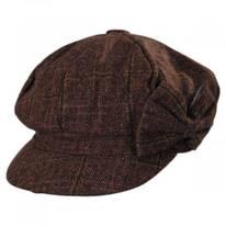 Plaid Side Bow Baker Boy Cap