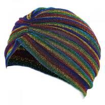 Metallic Stripe Turban