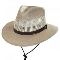 Milan Laminated Toyo Straw Safari Hat