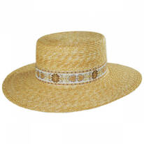 Spencer Wheat Straw Boater Hat