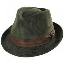 Cuff Corduroy Cotton Fedora Hat