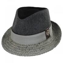 Journey Wool and Raffia Straw Fedora Hat