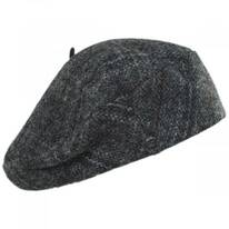 Gwen Tweed Herringbone Wool Beret