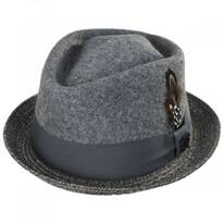 Hillsdale Wool and Toyo Straw Fedora Hat
