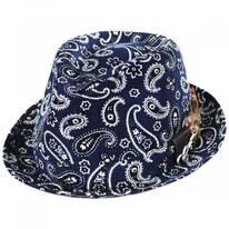 Imagine Corduroy Paisley Cotton Fedora Hat