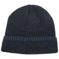 Herringbone Knit Cuff Beanie Hat