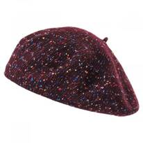 Speckled Wool Blend Beret