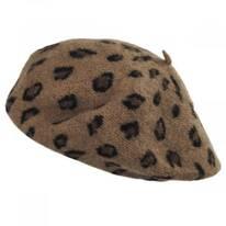 Leopard Wool Beret