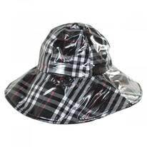 Plaid Wide Brim Rain Hat