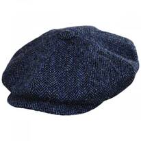 Harris Tweed Herringbone Wool Newsboy Cap