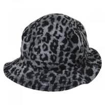 Hardy Leopard Wool Blend Bucket Hat