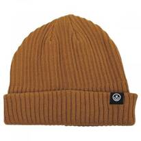 Fisherman Rib Knit Cotton Blend Beanie Hat