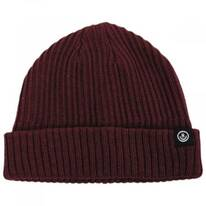 Fisherman Rib Knit Cotton Blend Beanie Hat
