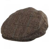Gibson Herringbone Plaid Wool Blend Ivy Cap