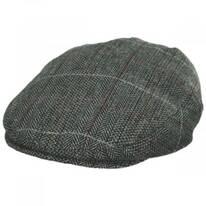 Regent Herringbone Plaid Wool Blend Ivy Cap