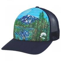 Alpine Reflection Trucker Snapback Baseball Cap