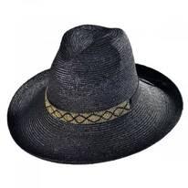 Solitaire Milan Straw Fedora Hat