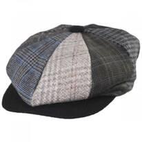 Parma Patchwork Wool Blend Newsboy Cap
