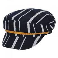 Ashland Stripe Cotton Blend Fiddler Cap