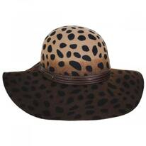 Leopard Wool Felt Floppy Hat