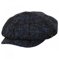 Harris Tweed Windowpane Plaid Wool Newsboy Cap