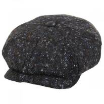 Donegal Marl Tweed Wool and Cotton Newsboy Cap