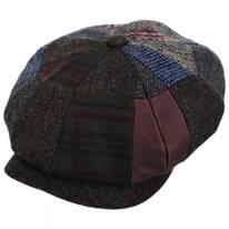 Patchwork Wool Blend Newsboy Cap