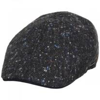 Donegal Marl Tweed Wool and Cotton Duckbill Cap