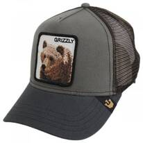Grizzly Bear Trucker Snapback Baseball Cap