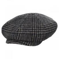 Glencheck Brushed Wool Blend Newsboy Cap