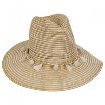 Raeni Toyo Straw Blend Safari Fedora Hat