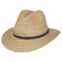 Inagua Raffia Straw Safari Fedora Hat