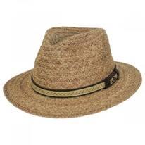 Navagio Raffia Straw Safari Fedora Hat