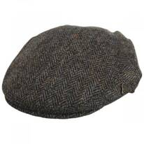 Harris Tweed Overcheck Herringbone Wool Blend Ivy Cap