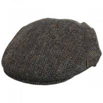 Harris Tweed Overcheck Herringbone Wool Blend Ivy Cap