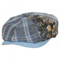 Aire Mixed Print Cotton Newsboy Cap