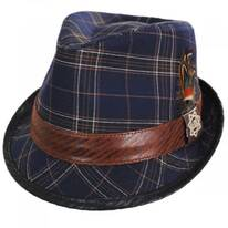 Romeo Plaid Cotton Fedora Hat