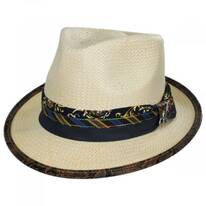 Showman Toyo Straw Fedora Hat