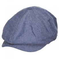 Brood Adjustable Cotton Herringbone Newsboy Cap