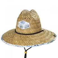 Azul Straw Lifeguard Hat