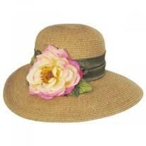 Rose Toyo Straw Sun Hat