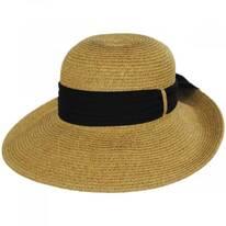 Chiffon Scarf Toyo Straw Sun Hat