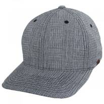 FlexFit Texture Check Plaid Fitted Baseball Cap