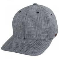 FlexFit Texture Check Plaid Fitted Baseball Cap
